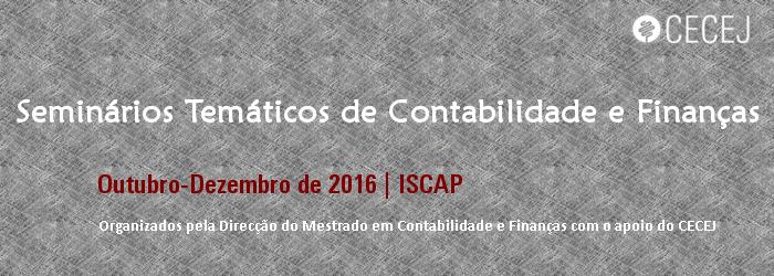 Seminários Temáticos de Contabilidade e Finanças